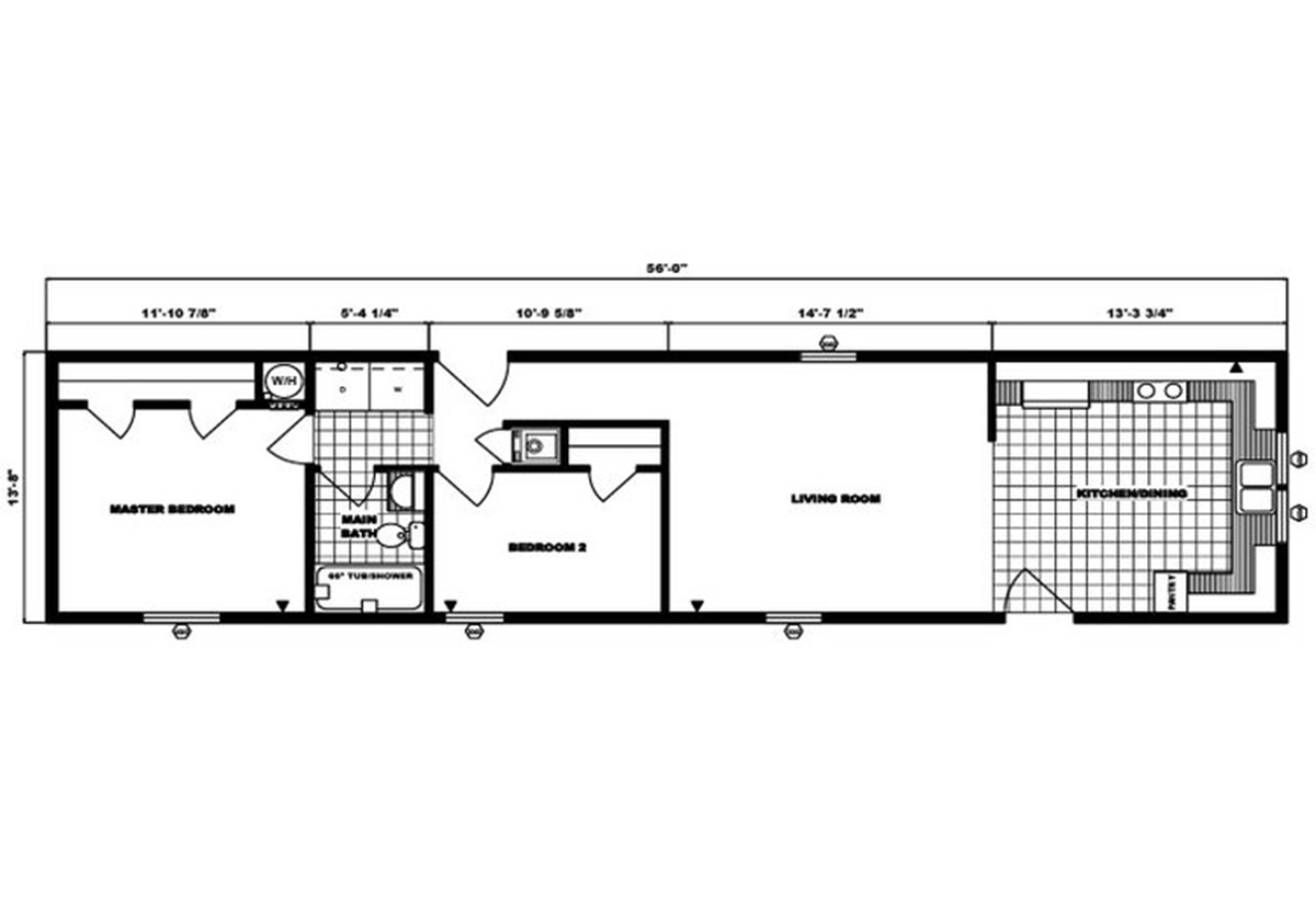 Single-Section Homes G-576 Layout