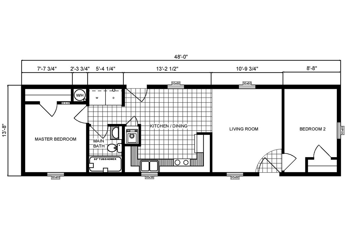 Single-Section Homes - G-556