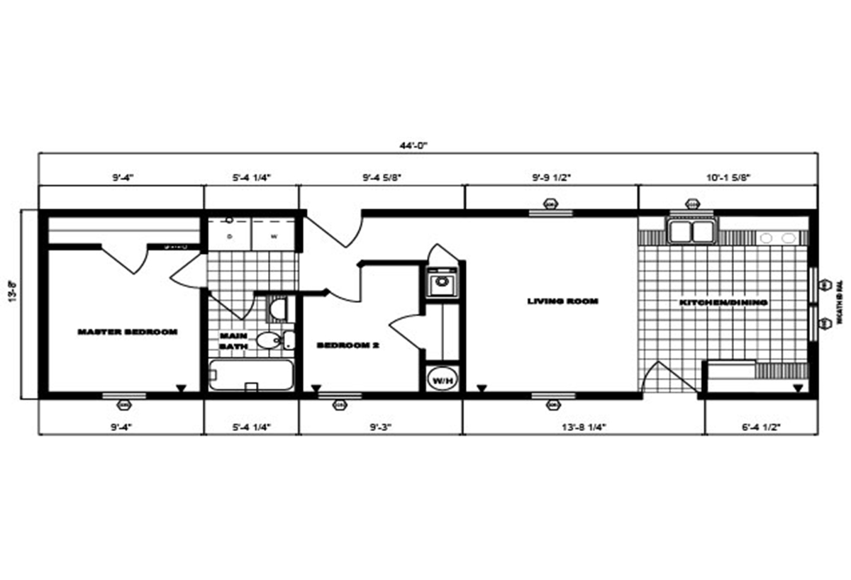 Single-Section Homes G-574 Layout