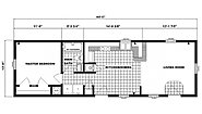 Single-Section Homes G-596 Layout