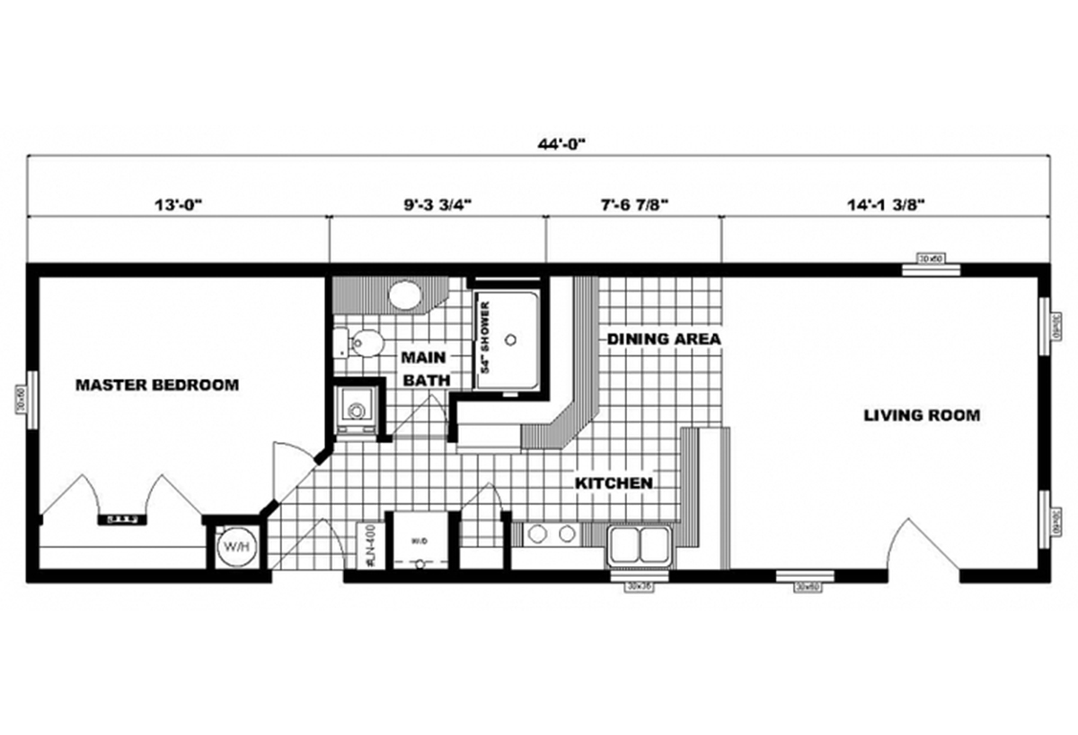 Single-Section Homes G-597 Layout