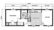Single-Section Homes G-555 Layout