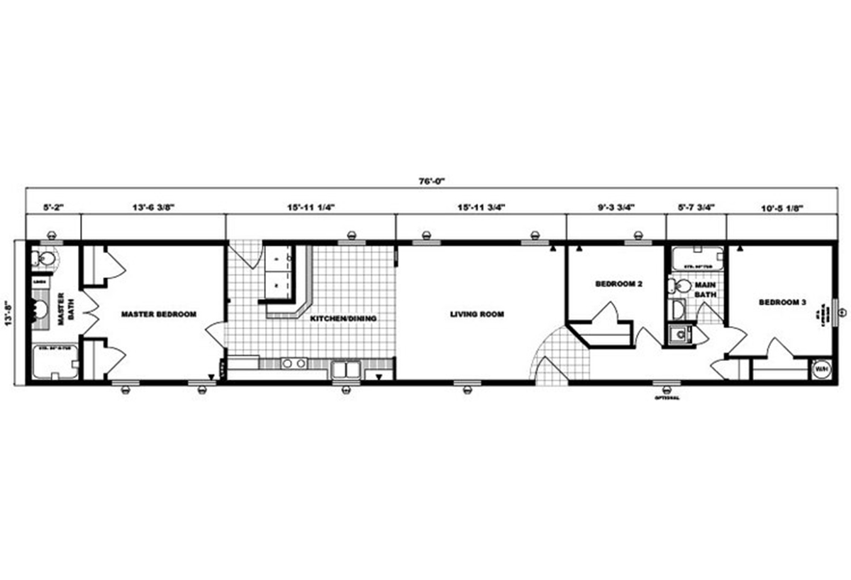 Single-Section Homes G-479 Layout