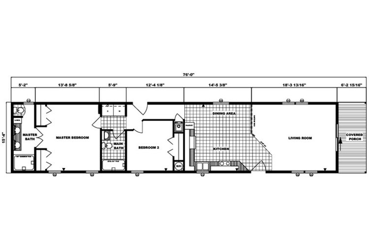 Single-Section Homes G-548 Layout