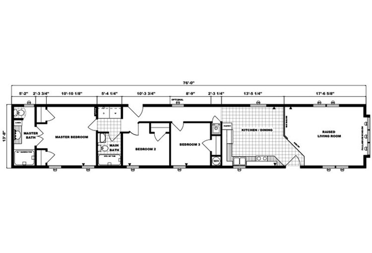 Single-Section Homes G-541 Layout