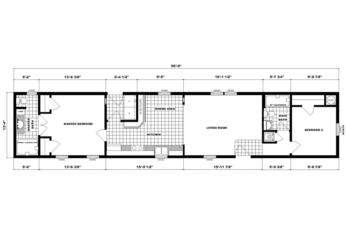 Single-Section Homes NETR GH-496 Layout
