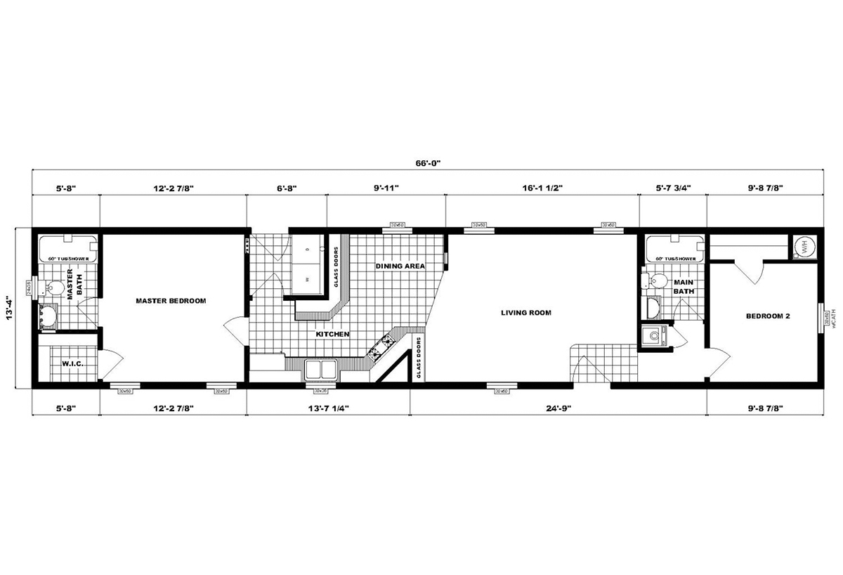 Single-Section Homes NETR G-624 Layout