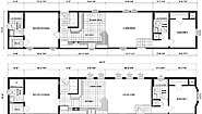 Single-Section Homes NETR G-618 Layout