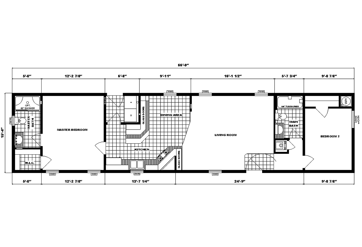 Single-Section Homes G-16-624 Layout
