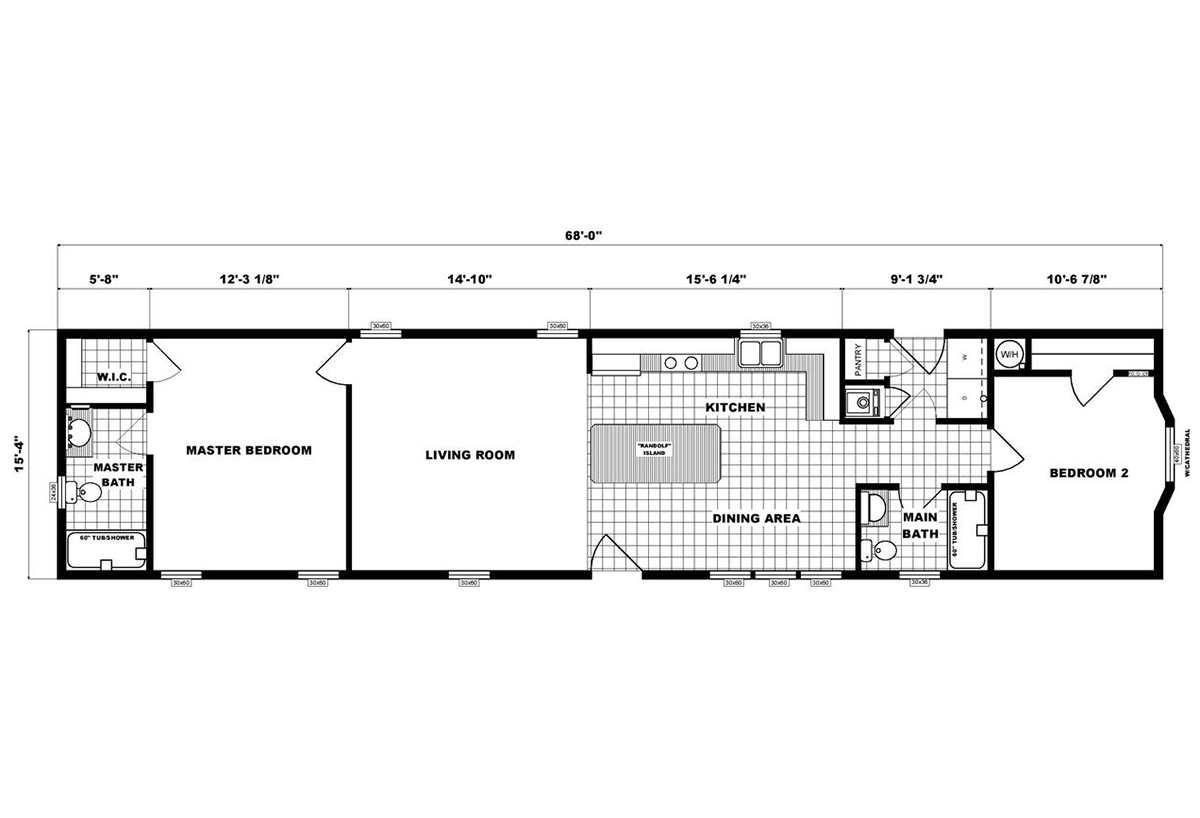 Single-Section Homes G-16-623 Layout