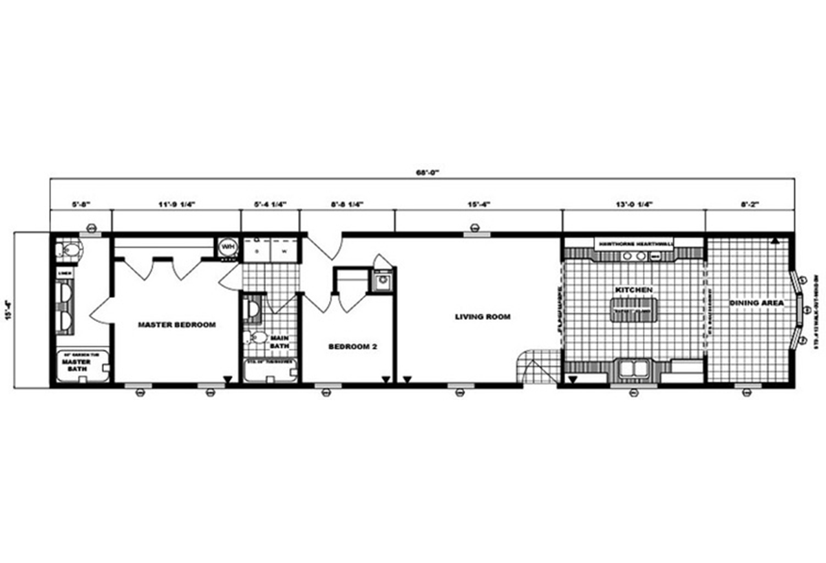 Single-Section Homes G-16-581 Layout