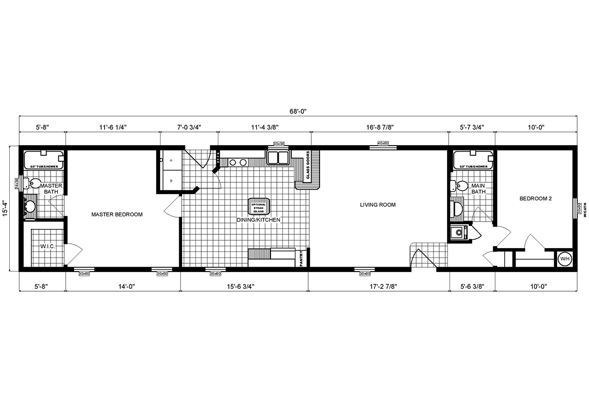 Single-Section Homes GH-16-577 Layout