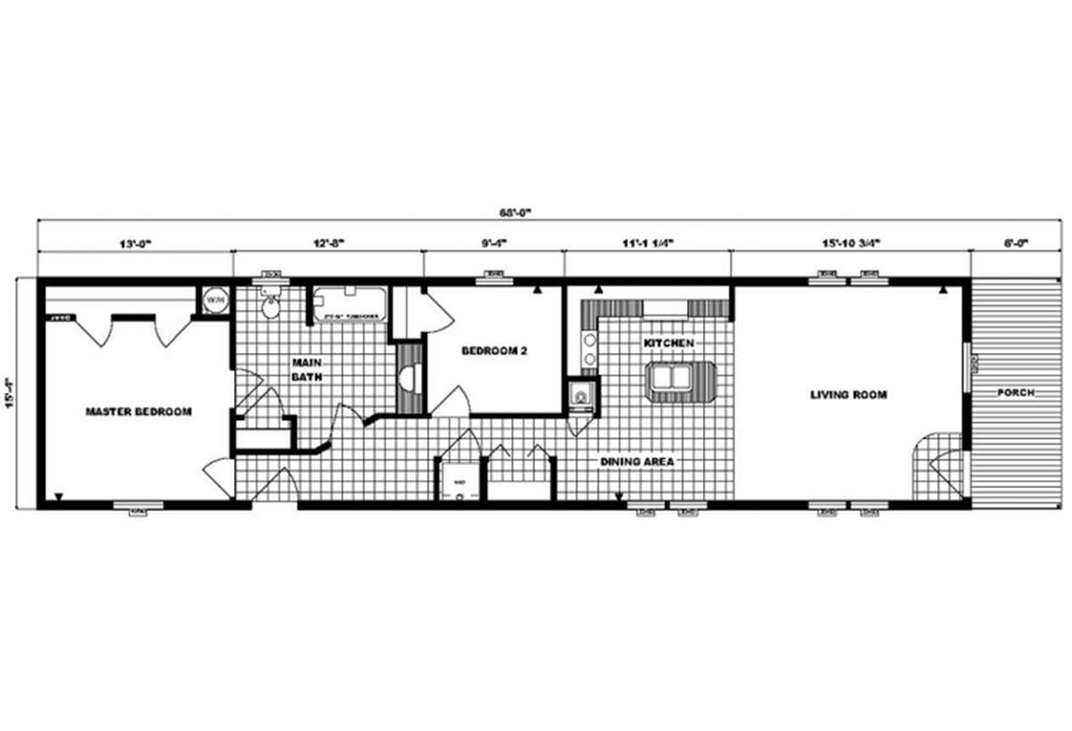 Single-Section Homes G-16-587 Layout