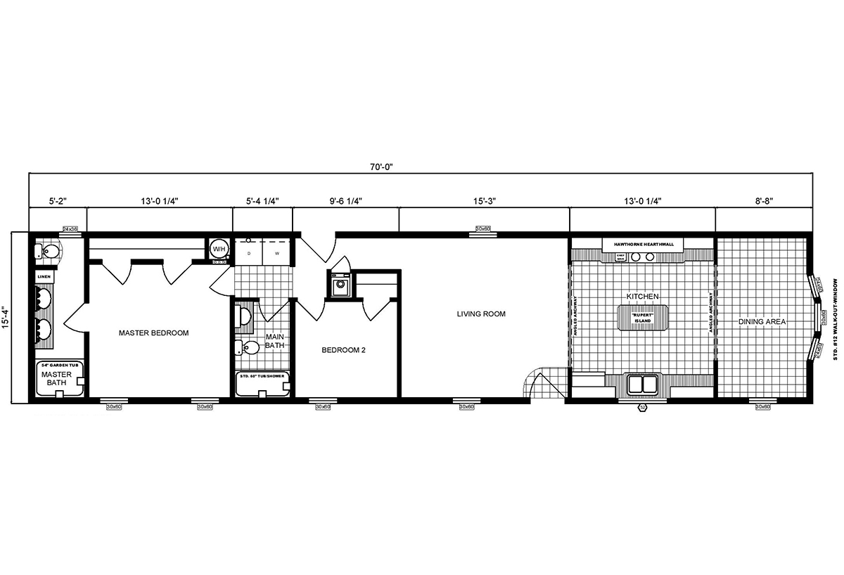 Single-Section Homes GH-16-565 Layout