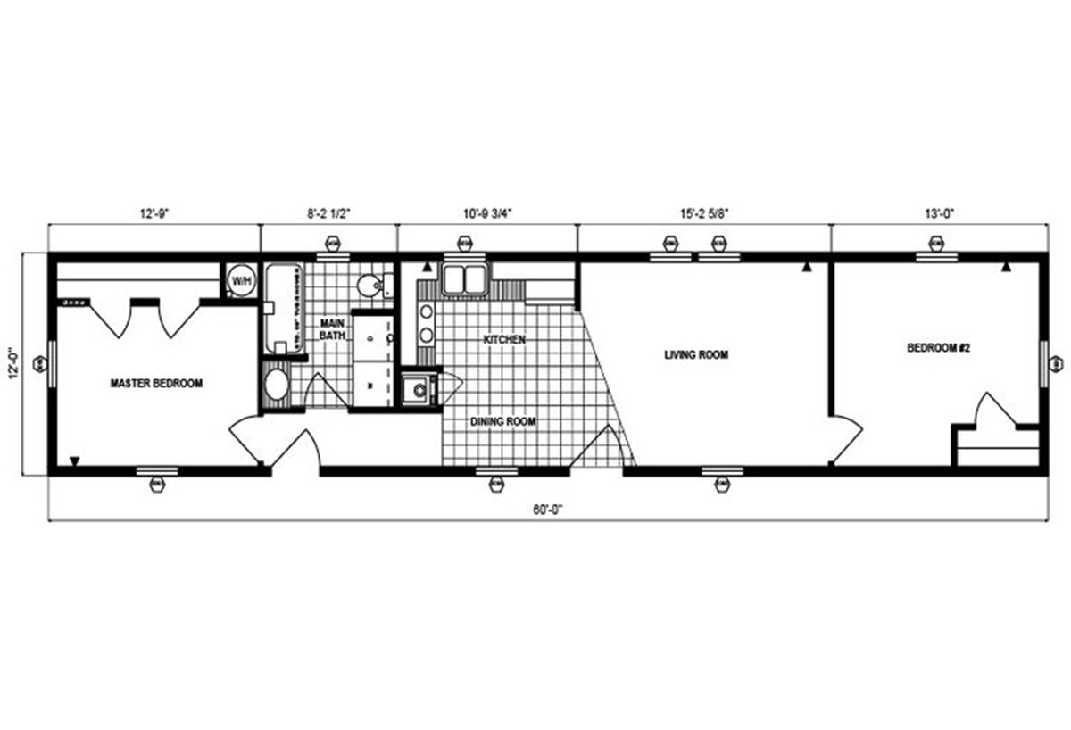 Single-Section Homes G-305 Layout