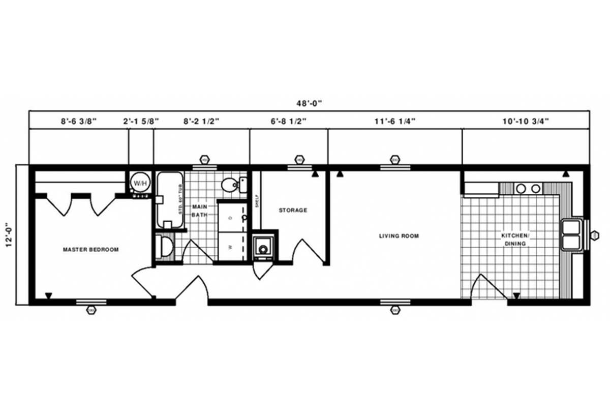 Single-Section Homes G-301 Layout