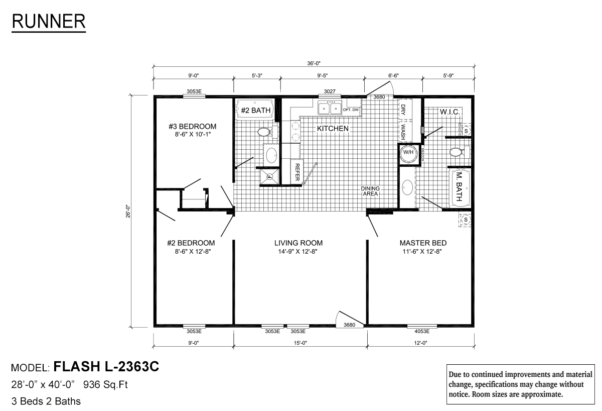 Runner Series / Flash L-2363C By Live Oak Homes