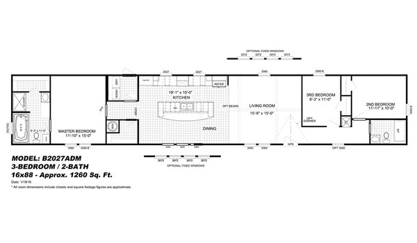 Floor Plan Detail C Amp W Mobile Homes