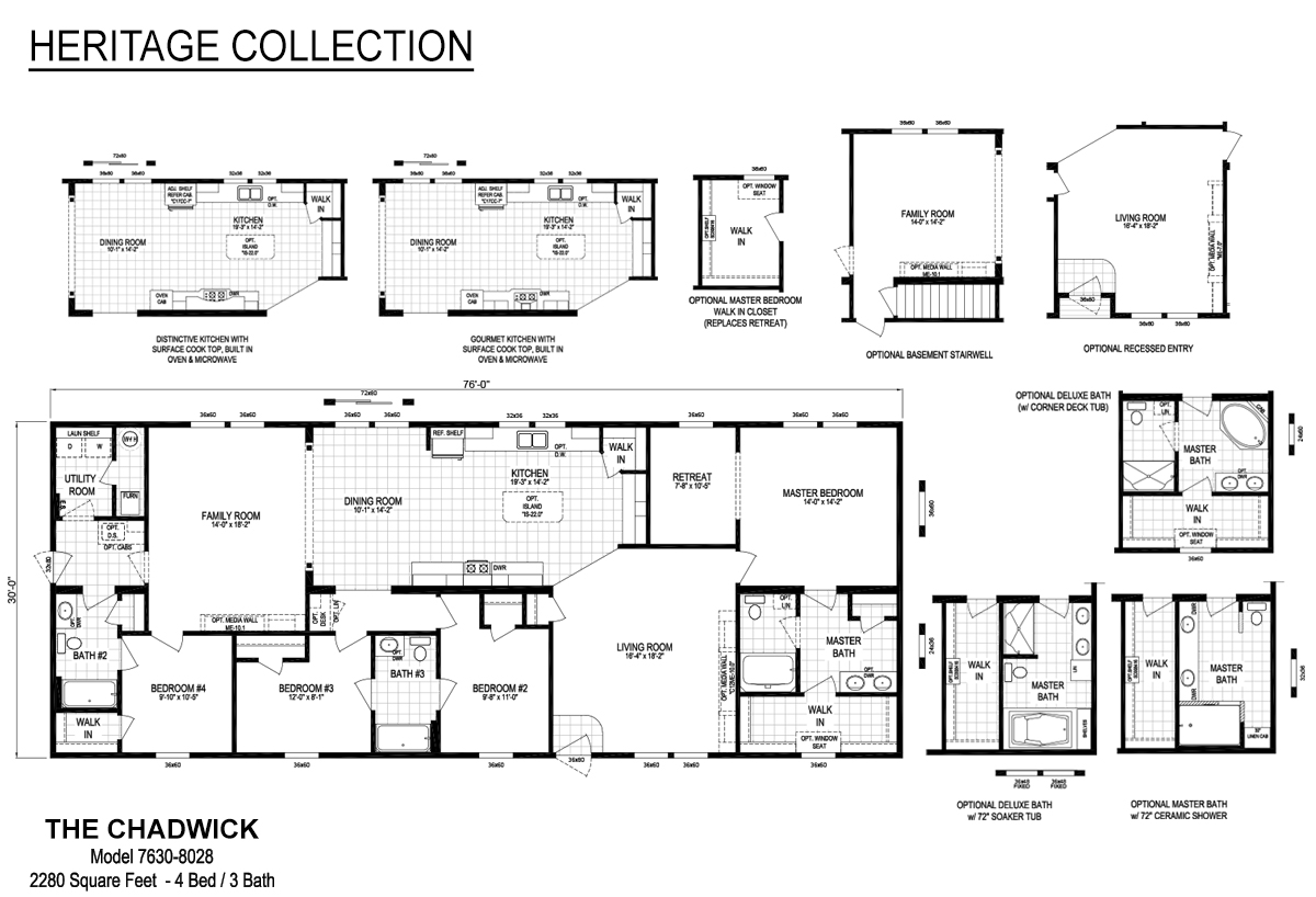 manufacturedmodular - Clayton Homes Floor Plans 3 Bedrooms 28 Quot Width 44length