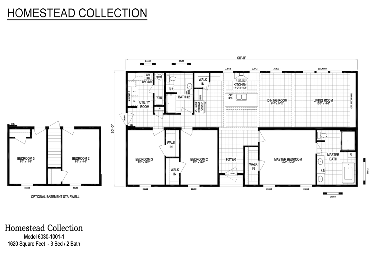 Homestead Collection Homestead 30x60 Layout
