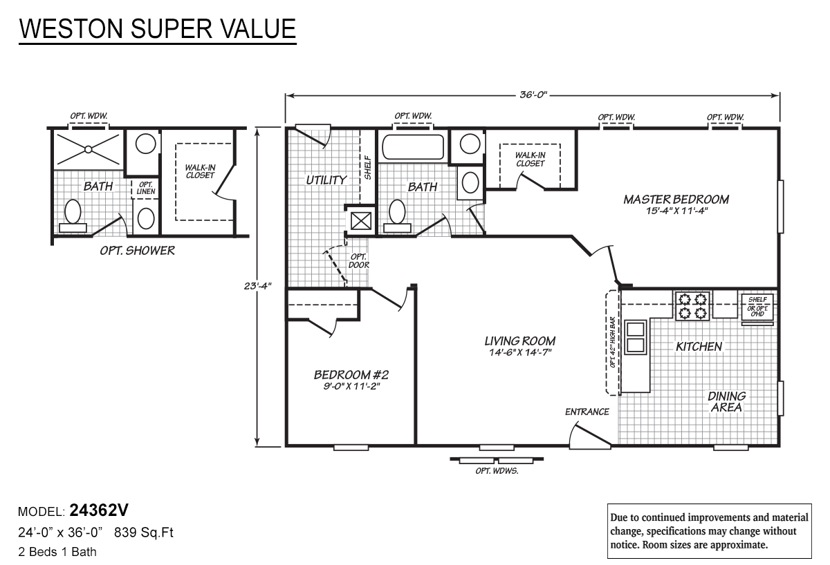 Weston Super Value 24362V Layout