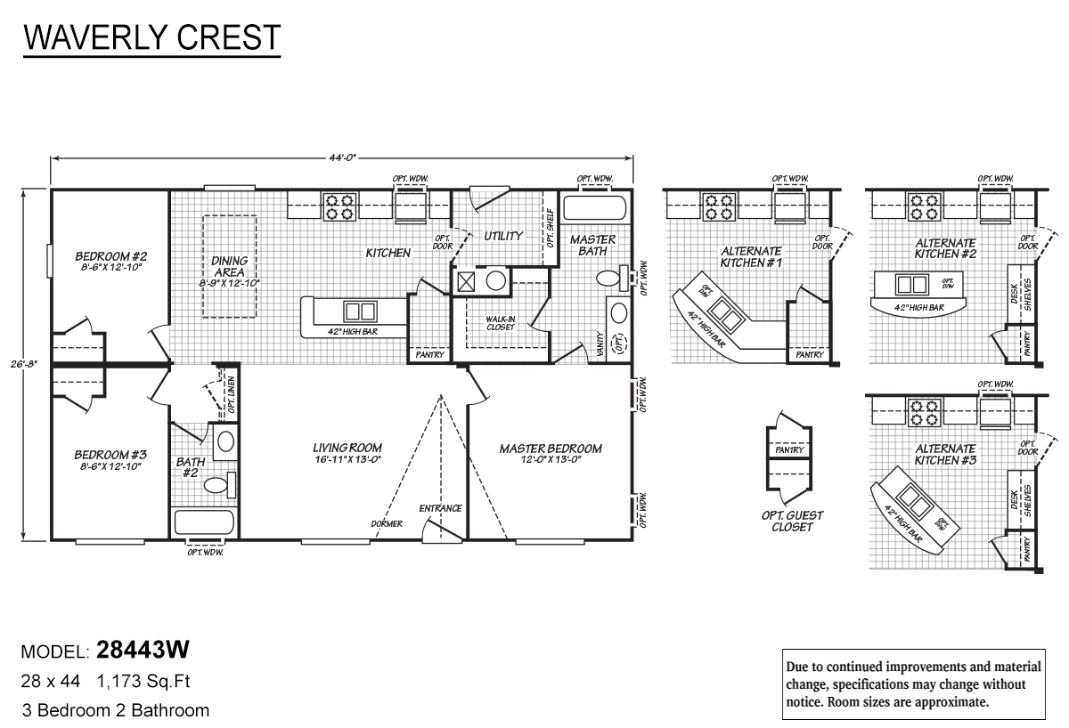 Pierce Homes in Great Falls MT Manufactured Home Dealer – Waverly Mobile Homes Floor Plans