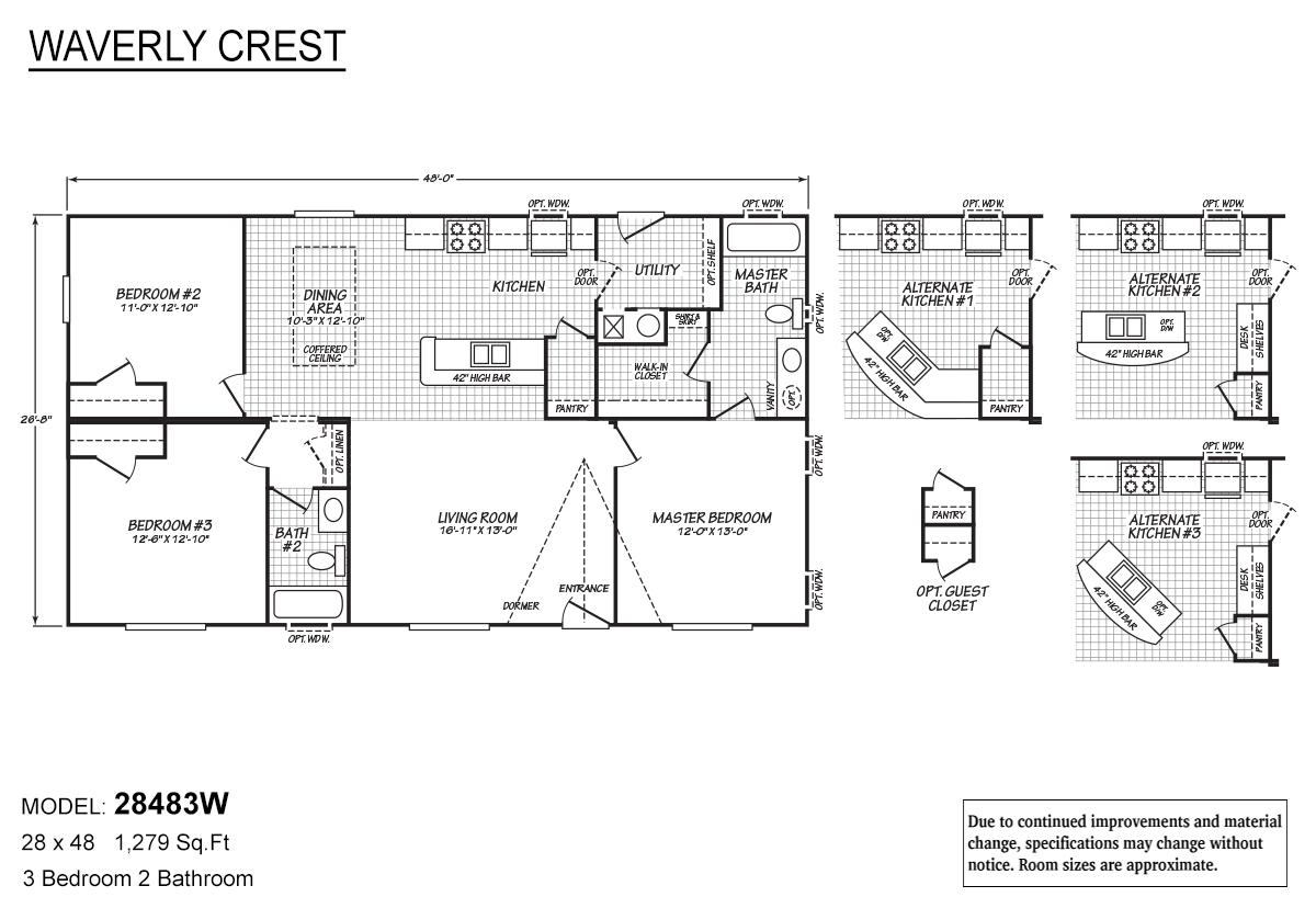 Waverly Crest 28483W Layout