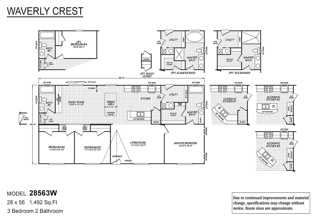 Waverly Crest 28563W Layout