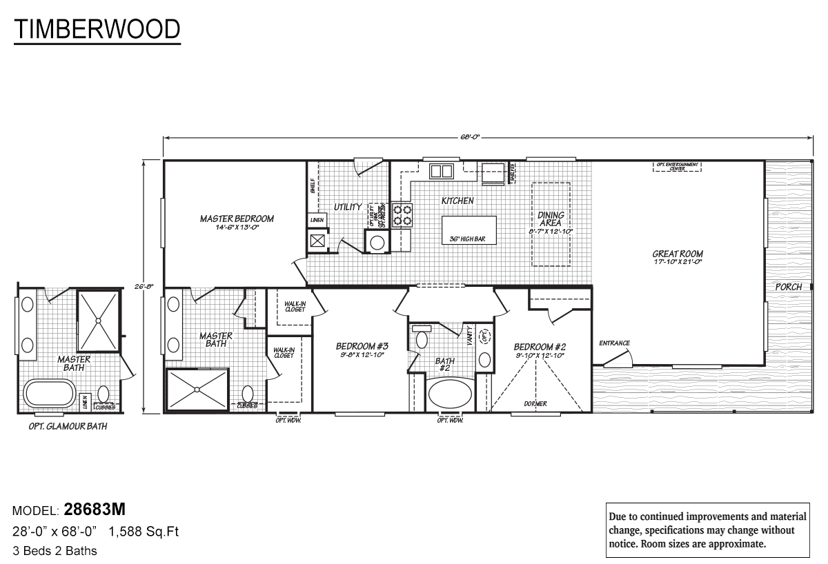 Timberwood 28683M Layout