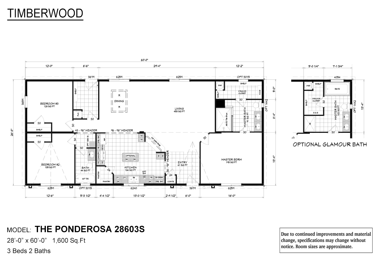 Timberwood 28603S The Ponderosa Layout