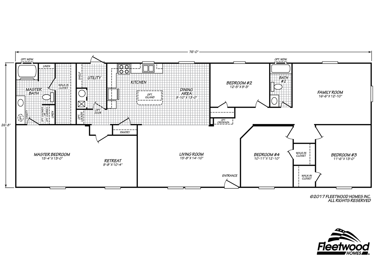 sandalwood xl28764x layout - Clayton Homes Floor Plans 3 Bedrooms 28 Quot Width 44length