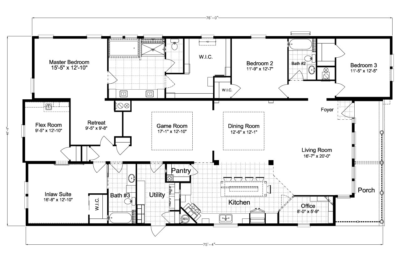 Palm harbor plant city la belle iv x4769h or tl40764b by for Ready built homes floor plans