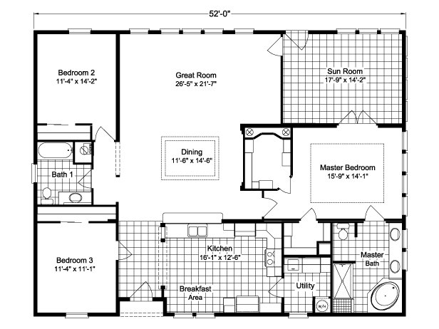 Palm harbor plant city wellington ii x3526b or 40523a by for Modular homes under 1000 square feet