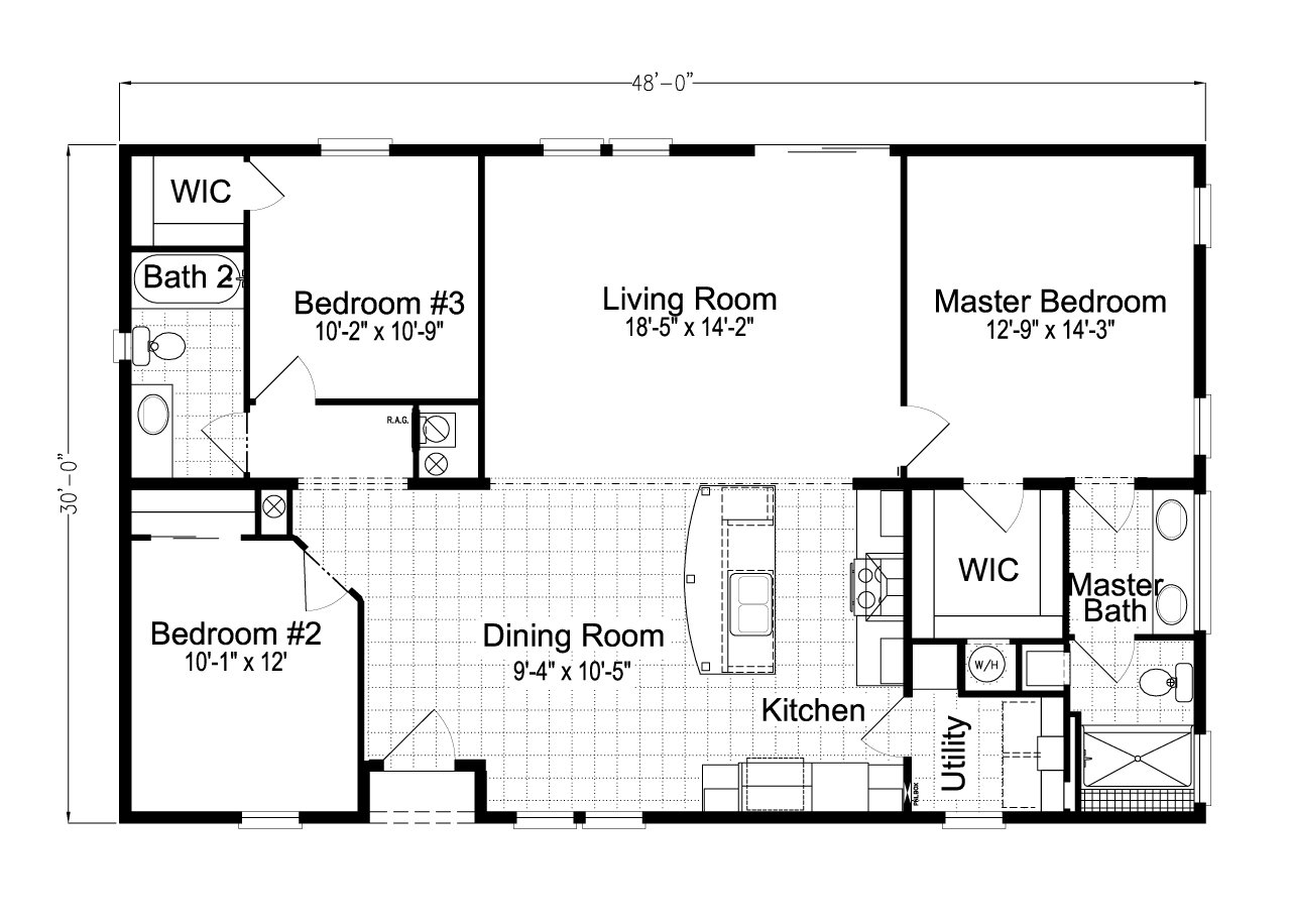 Palm harbor plant city the ventura vi tl30483c by palm for Ready built homes floor plans