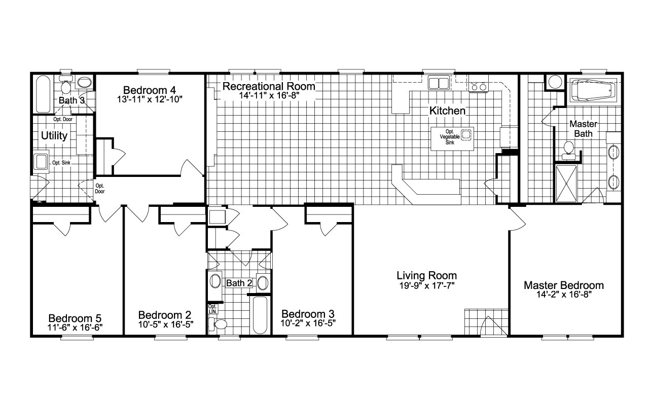 Palm Harbor Texas Floor Plans: Palm Harbor Austin / The Benbrook 5 Extra Wide ML34765B By