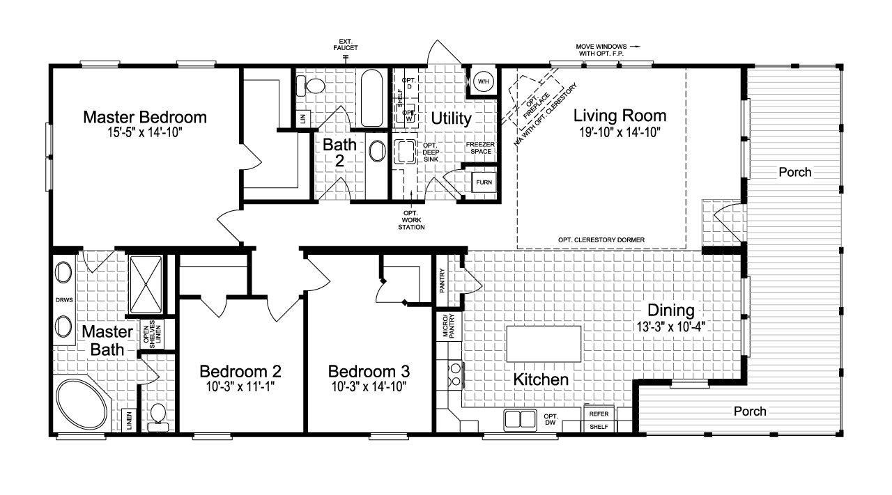 Palm harbor austin the montana vr32663a by palm harbor homes for Montana floor plans