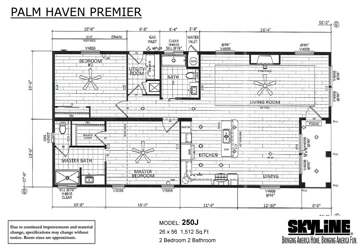 Palm Haven Premier 250J Layout