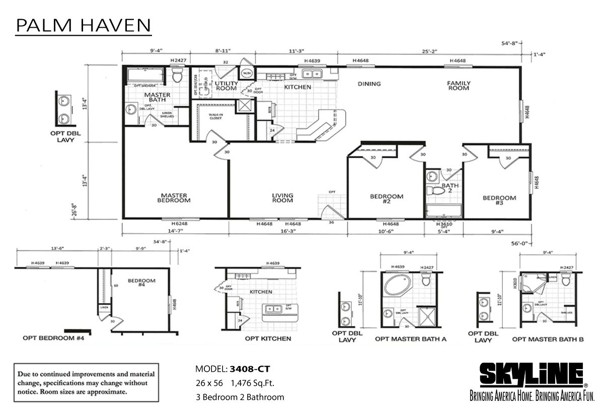 Palm Haven 3408CT-JNR