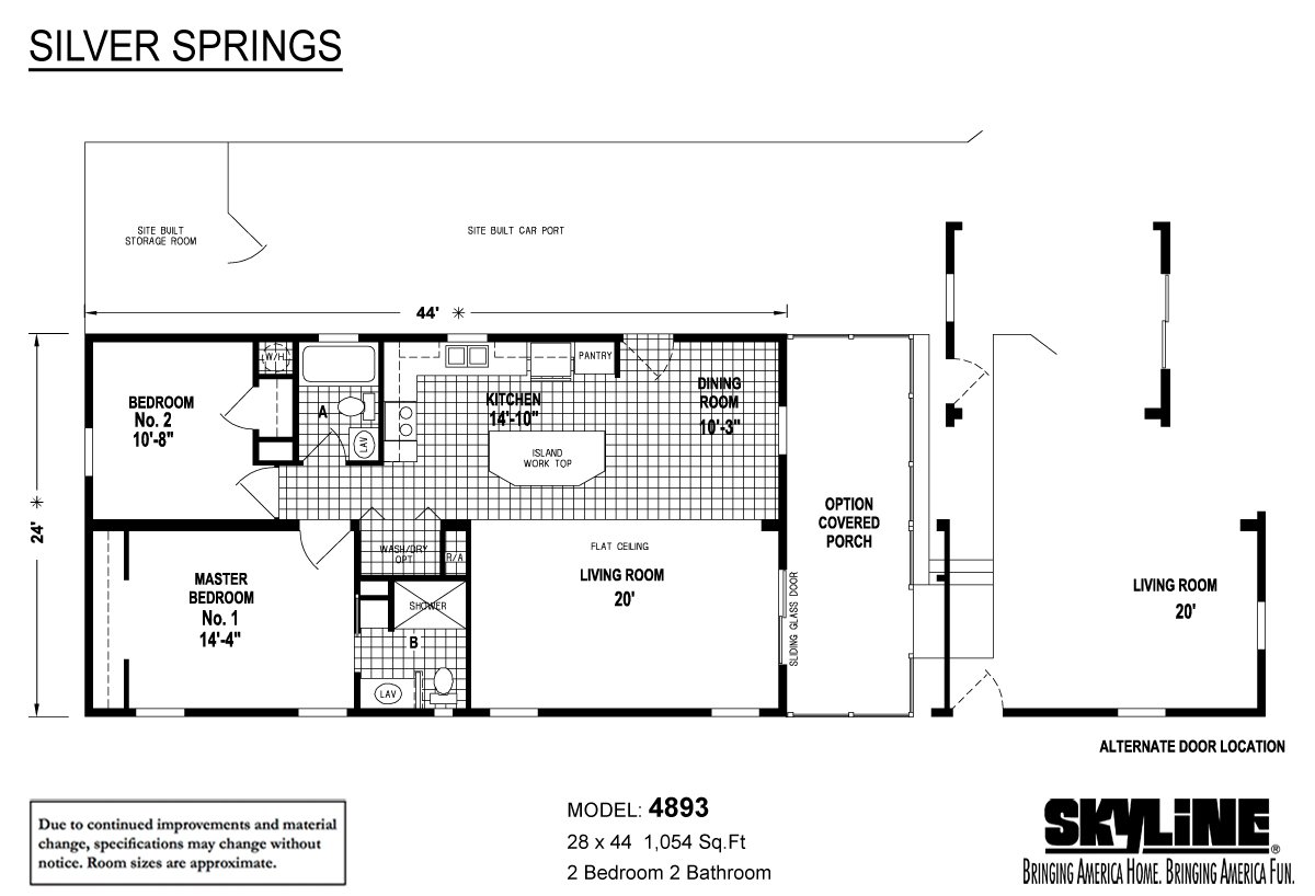 Southern comfort mobile home center in ocala fl for Mobile home floor plans florida