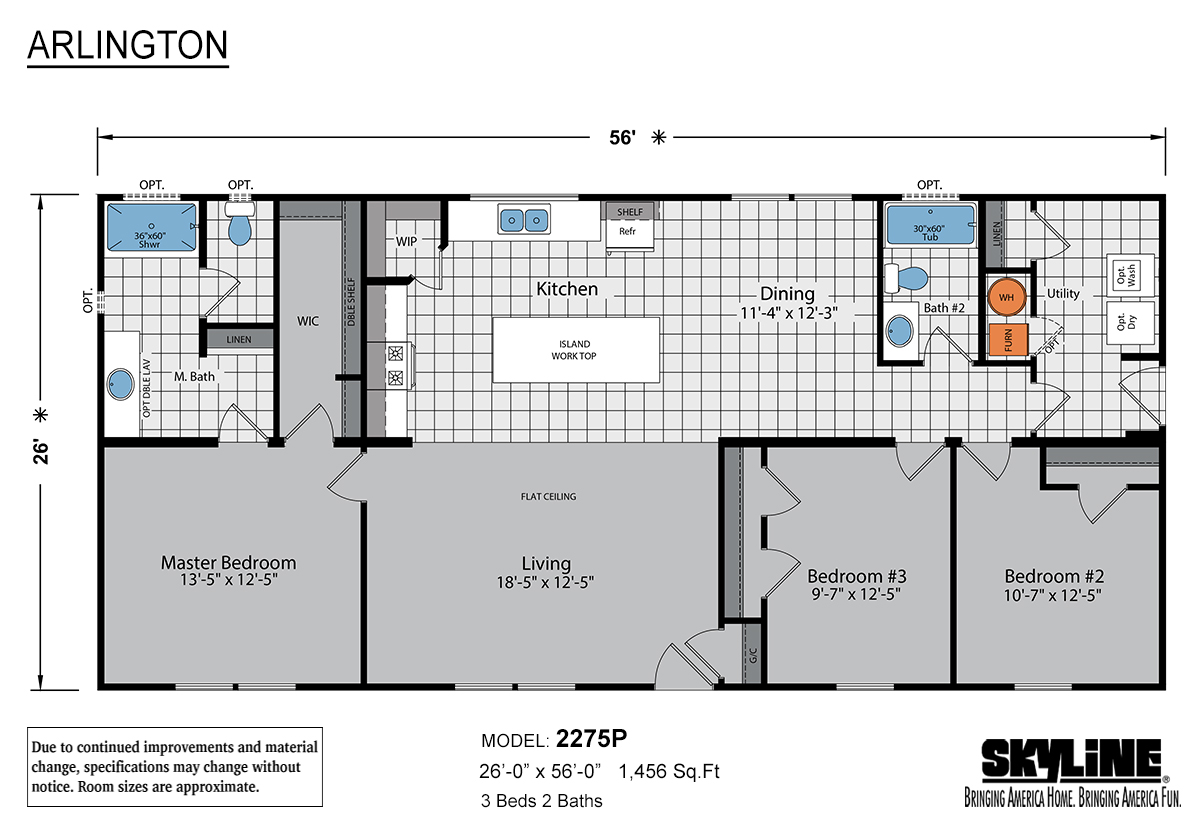 Arlington 2275P Layout