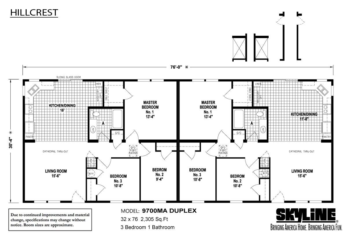 Hillcrest Duplex - 9700MA