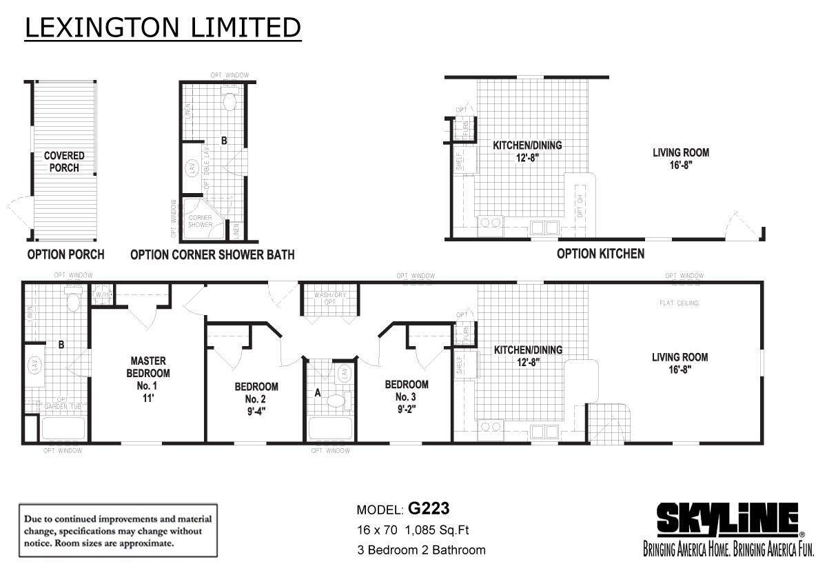 Lexington Limited G223 Layout