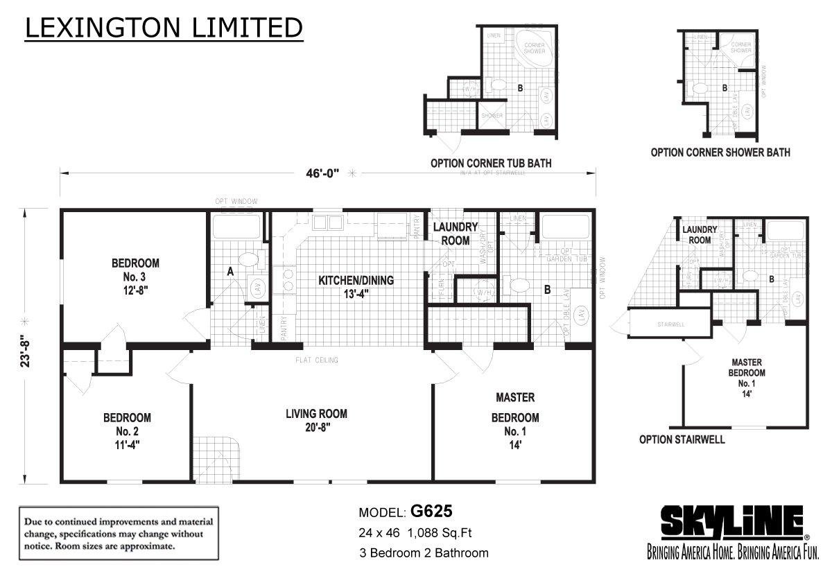 Lexington Limited G625 Layout