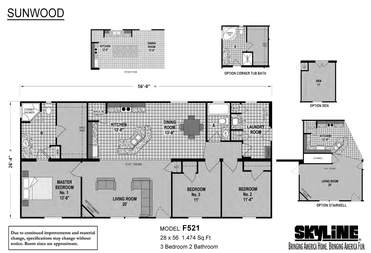 Sunwood F521 Layout