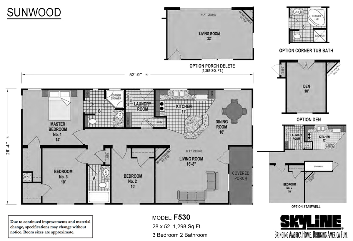 Sunwood F530 Layout