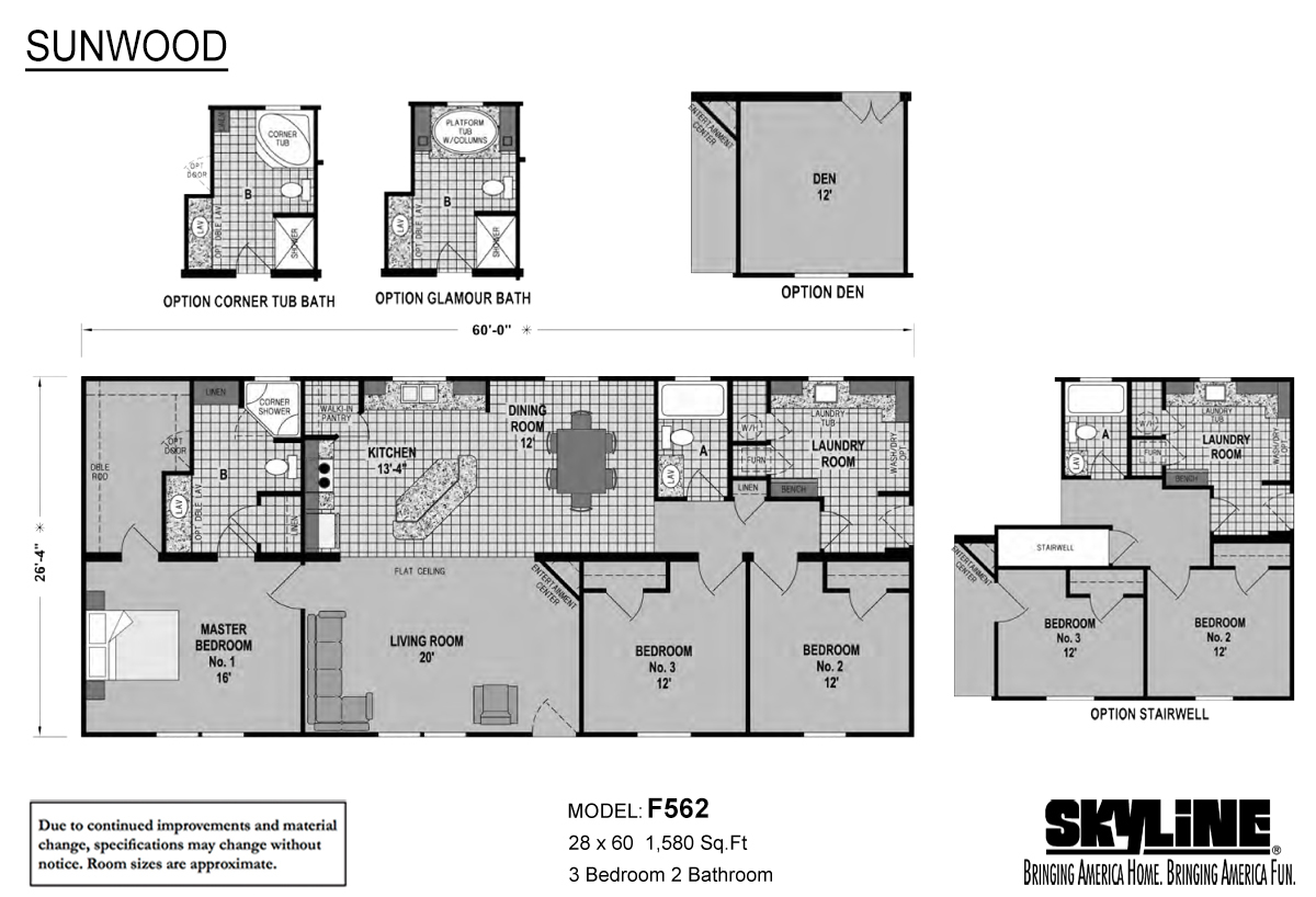Sunwood F562 Layout