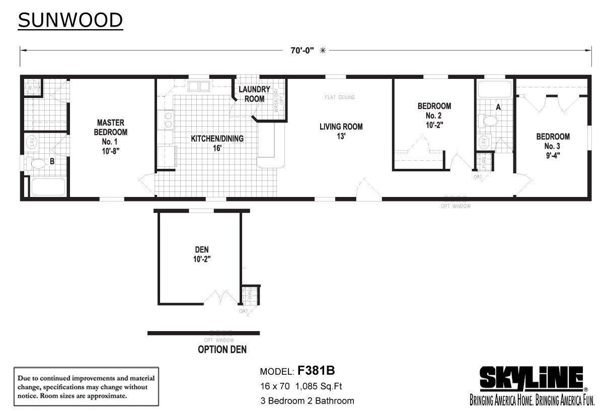 Sunwood F381B Layout