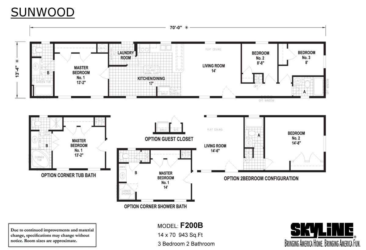 Sunwood F200B Layout
