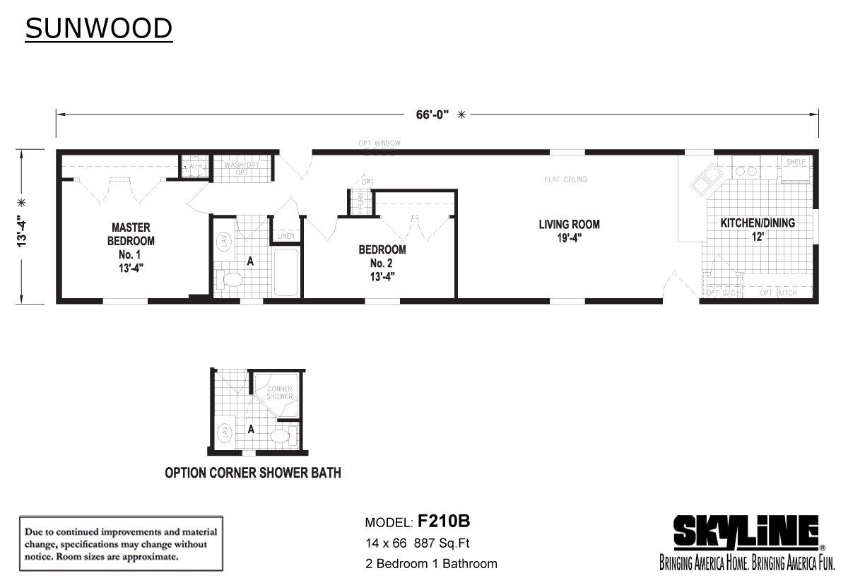 Sunwood F210B Layout