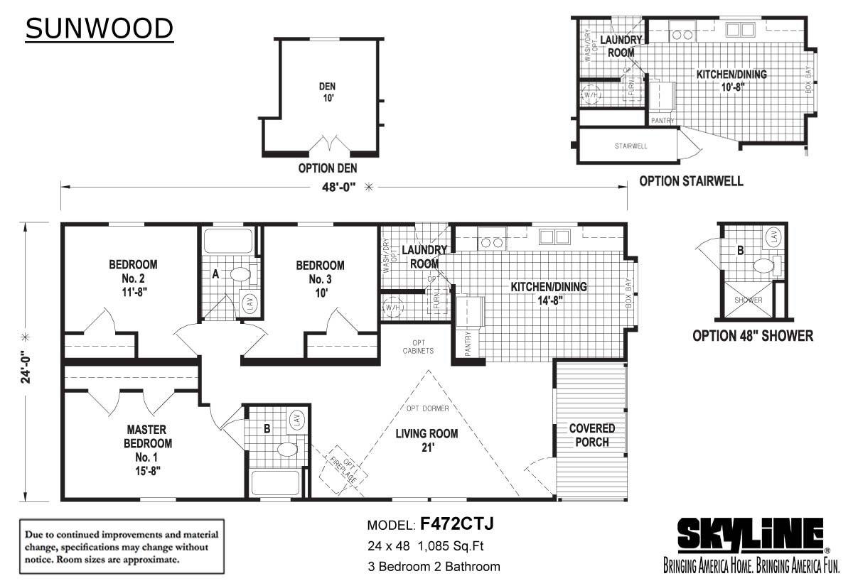Sunwood F482CTJ Layout